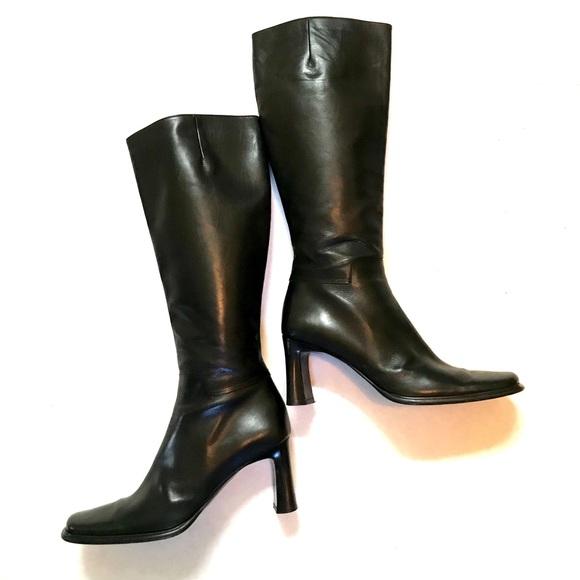 11b5e0da314 Via Spiga Italian Leather Heeled Riding Boots